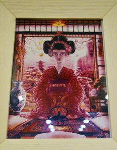 Geisha, Ilustración. Adrián Izquierdo