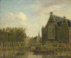 Amsterdam (Netherlands), Spui canal, by Jan Ekels, Amsterdam Art, Amsterdam Netherlands, Fine Art Prints, Canvas Prints, Dutch Painters, Canvas Paper, Old Master, Urban Landscape, Art Reproductions