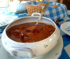 Austrian Goulash & Semel Knoedel (Bread dumplings) - Stovetop or Slow Cooker