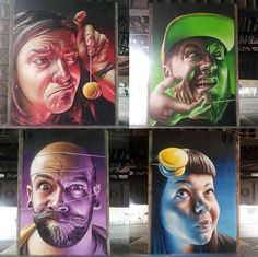 """You gotta love Spanish Artist Smug - """"Give me a wall and one spray paint can and I will move the world"""" - Elcodigodebarras Murals Street Art, Graffiti Murals, Street Art Graffiti, Wall Murals, Urban Graffiti, Amazing Street Art, 3d Wall Art, People Art, Types Of Art"""