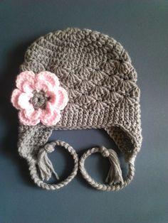 Baby girl Hat Children Grey Hat Newborn baby girl hat by LovelyJC