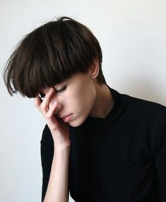 30 Chic Pixie coupes de cheveux: Blunt Coiffure