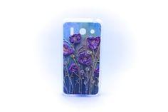 Carcaza Pintura Violetas Relieve Huawei G510 — HighTeck Store