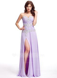 Evening Dresses - $148.99 - A-Line/Princess Sweetheart Floor-Length Chiffon Evening Dress With Ruffle Lace Beading Split Front (017022820) http://jjshouse.com/A-Line-Princess-Sweetheart-Floor-Length-Chiffon-Evening-Dress-With-Ruffle-Lace-Beading-Split-Front-017022820-g22820?pos=your_recent_history_1