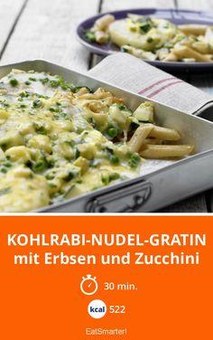 Kohlrabi-Nudel-Gratin - mit Erbsen und Zucchini - smarter - Kalorien: 522 Kcal - Zeit: 30 Min. | eatsmarter.de