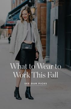 What to Wear to Work This Fall via @PureWow