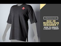 (10) Daz 3D, Marvelous Designer 7 - How To Create A Baggy T-Shirt - YouTube