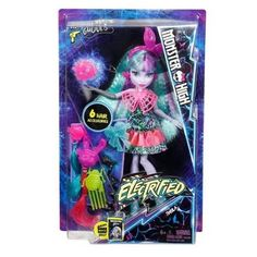 """Monster High Electrified Monstrous Hair Ghouls Twyla Doll - Mattel Girls - Toys """"R"""" Us Monster High Doll Clothes, Monster High Dolls, Toys For Girls, Kids Toys, Purple Streaks, Dolls And Daydreams, Doll Divine, Monster Design, Pink Plastic"""