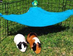 Guinea pig hammock, small animal hammock, corner hammock, pet hideout, guinea pig toy, fleece cage accessories, rat chinchilla rabbit ferret by CreatedbyLauraB on Etsy