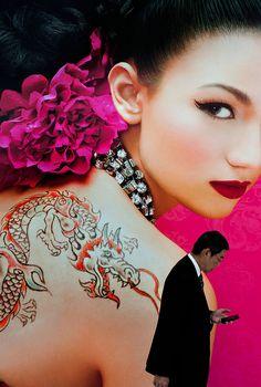 The dragon girl. Bangkok Thailand. . © Jørgen Flemming.
