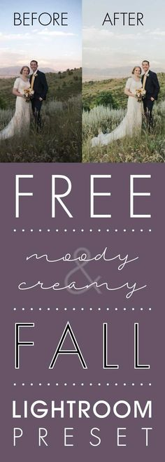 Free Moody and Creamy Fall Lightroom Preset