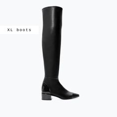 LONG LEATHER BOOT-Shoes-Woman-SHOES & BAGS   ZARA United States