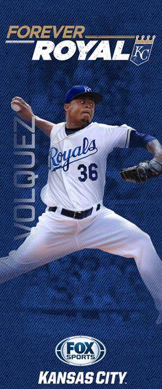 2015 'Forever Royal' pole banners   FOX Sports - Edinson Volquez