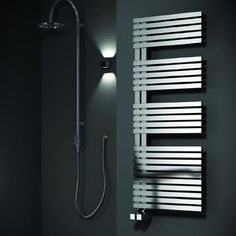 Buy Reina Entice Designer Heated Towel Rail H x W Brushed Stainless Steel today. Reina Part No: Free UK delivery in approx 2 working days. Stainless Steel Towel Rail, Stainless Steel Radiators, Brushed Stainless Steel, Bathroom Towel Radiators, Heated Towel Bar, Electric Towel Rail, Warm Bathroom, Small Bathroom, Vertical Radiators