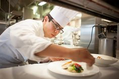 Student working in the Back of the House I The Bocuse Restaurant I The Culinary Institute of America