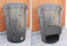 How to make a compost bin out of a plastic bucket. Composting At Home, Worm Composting, Composting Toilet, Garden Compost, Vegetable Garden, Making A Compost Bin, Bokashi, Backyard Projects, Green Life