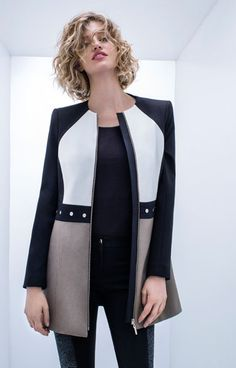 Automne Manteau de laine Mante