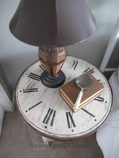 Clock Table from a Flea Market Find, diy, table makeover Repurposed Furniture, Painted Furniture, Refurbished Furniture, Furniture Makeover, Home Furniture, Chair Makeover, Furniture Refinishing, Table Furniture, Furniture Ideas