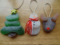 Beach Glass Ornaments-3 Pack by ArcticGlass on Etsy