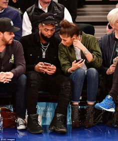 Zendaya and Odell Beckham Jr. look very friendly at Knicks game Jordan 12 Ovo, Air Jordan, Light Skin Men, Celebrity Sneakers, Odell Beckham Jr, Zendaya Coleman, Couple Relationship, Relationships, Kendall And Kylie