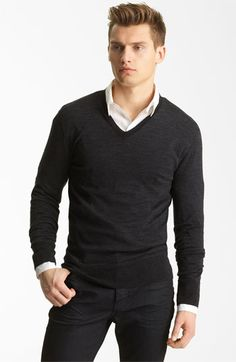 John Varvatos Collection V-Neck Wool Knit Sweater available at #Nordstrom