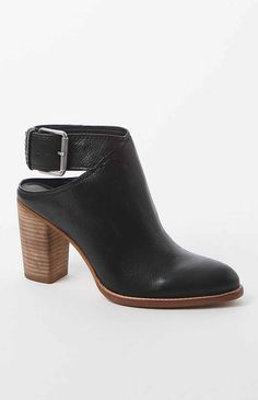 Hooked on Jacklyn Ankle Strap Leather Booties that I found on the PacSun App