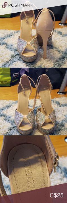 Forever 21 platform heels Forever 21 high platform heels. Sparkly toes and platform. Forever 21 Shoes Heels