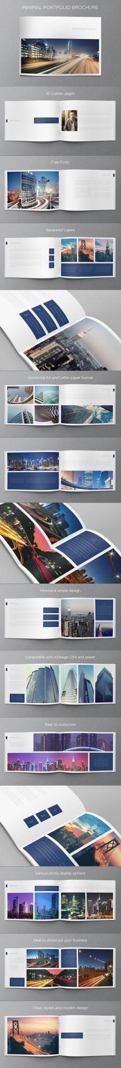 Minimal Portfolio Brochure. Download here: http://graphicriver.net/item/minimal-portfolio-brochure/5291229?ref=abradesign #design #brochure