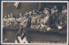 """""""Herbstparade der schlesischen SA - Breslau 1933"""" SA Bildpostkarte"""