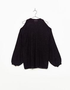 Jersey oversize off shoulder manga globo. Descubre ésta y muchas otras prendas en Bershka con nuevos productos cada semana