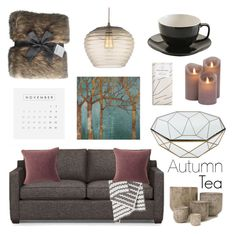 """Cozy Autumn Tea & Chocolate"" by dolphie ❤ liked on Polyvore featuring interior, interiors, interior design, home, home decor, interior decorating, Barefoot Dreams, Lexington, Home Decorators Collection and Heathfield & Co."
