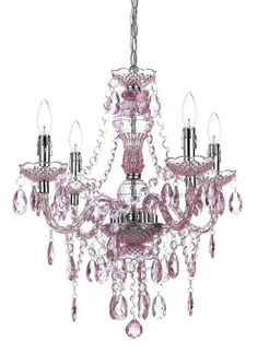 Light Pink Naples Chandelier
