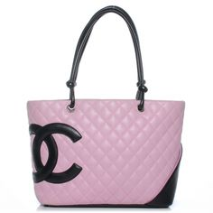 Fashionphile - CHANEL Leather Cambon Ligne Quilted Large Tote Pink