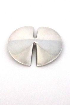 Georg Jensen, Denmark - modernist silver brooch (337B) by Nanna Ditzel
