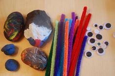 materials to make rock bugs