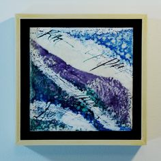 encaustic mixed media calligraphy painting