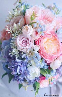 New Flowers Spring Bouquet Floral Arrangements Pink Ideas Spring Bouquet, Spring Flowers, Pastel Flowers, Blue Bouquet, Pastel Pink, Pastel Bouquet, Blush Pink, Pink Roses, Pink Blue