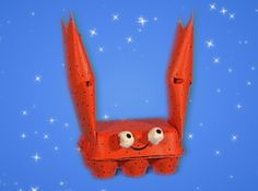 Want to know how to make this Cardboard Crab? Click through to MisterMaker.com to find out! Art And Craft Shows, Arts And Crafts, Mister Maker Crafts, Creative Play, How To Find Out, How To Make, Craft Party, Craft Kits, Teaching Kids
