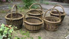 Weaving our own baskets.