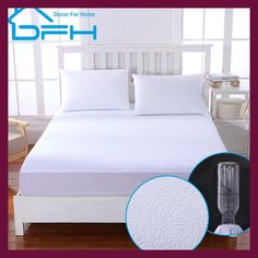 matelas ALL Size Terry Waterproof mattress protector cover For Bed Wetting And Bed Bug Suit For Russian Mattress Size. Category: Home & Garden. Subcategory: Home Textile. Mattress Covers, Mattress Pad, Mattress Protector, Duvet Covers, Tailor Made Suits, Bed Wetting, Ikea Us, Bed Bugs, Dust Mites