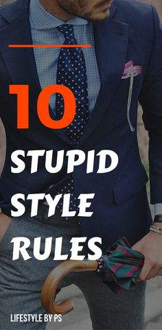 STOP following these STUPID style rules right now.
