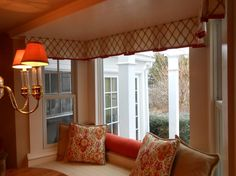 - Bay window pleated valance