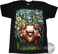 marvel characters t shirts | Marvel Skrull Group T-Shirt