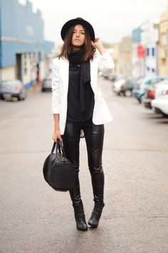 wanted :: faux leather leggings