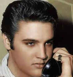 ♡♥Elvis Presley on the phone - click on pic to see a full screen pic in a better looking black background♥♡