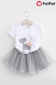 Little Baby Girl Skirt Outfits Sets Word Love Short Sleeve Jumpsuit Romper Top Bowknot Tutu Tulle Skirt