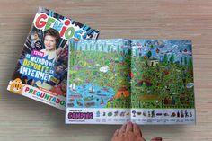 Ilustrador Alexiev Gandman: Buscando en el Camping - Revista Genios 929