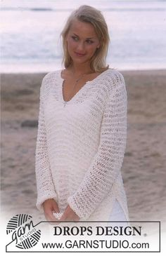 Free knitting patterns and crochet patterns by DROPS Design Knitting Patterns Free, Knit Patterns, Free Knitting, Free Pattern, Drops Design, Crochet Woman, Knit Crochet, Summer Knitting, Crochet Designs