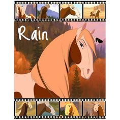 Spirit Stallion of the Cimarron Rain | An art collage from July 2009