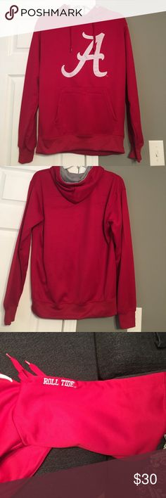 Red Alabama Crimson Tide Hooded Sweatshirt FITS LIKE A MEDIUM!!! In perfect condition. Like new. Worn once. Comes from a smoke free home. Old Varsity Brand Tops Sweatshirts & Hoodies